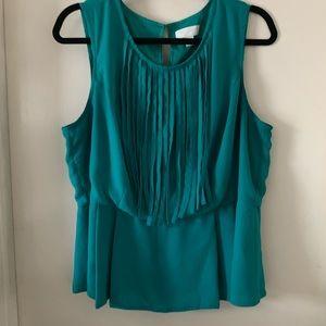 Sleeveless fringe blouse